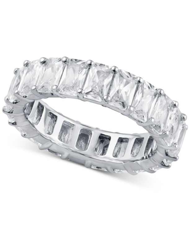 Diamond Emerald-Cut Eternity Band (4 ct. t.w.) in 14k White Gold