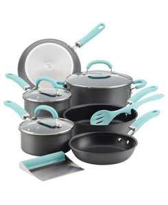 Create Delicious Hard-Anodized Aluminum 11-Pc. Nonstick Cookware Set