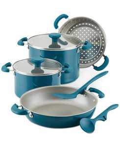 Create Delicious Stackable Nonstick 8-Pc. Cookware Set