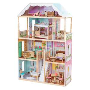 KidKraft Charlotte Classic Wooden Dollhouse with 14 Accessories