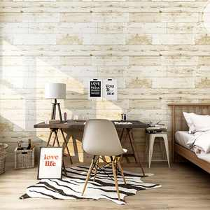 """3D Wood Wallpaper Waterproof Wallpaper 17.7"""" X 236"""" Self-Adhesive Removable Wood Peel and Stick Wallpaper Decorative Wall Covering Vintage Wood Panel Interior Film for Christmas Decoration"""