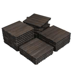 "27pcs Wood Flooring Tiles Indoor & Outdoor For Patio Garden,12"" x 12"""