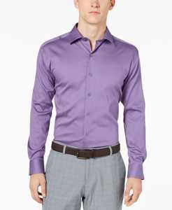 Men's Bedford Cord Classic/Regular Fit Dress Shirt, Created for Macy's