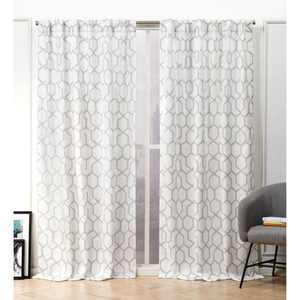 Nicole Miller Hexa Hidden Tab Top Curtain Panel Pair
