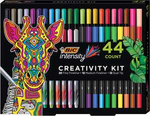 BIC Intensity Fineliner Creativity Kit 44ct with Storage Tray