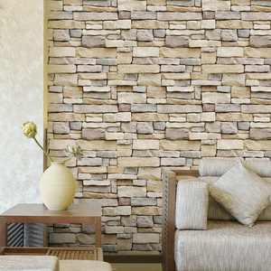 Self-adhesive 3D Brick Schist Wallpaper Sticker Film Wall Sticker Roll 10MX45cm Vinyl Mural Bedroom Living Room Home Decoration