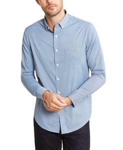 Men's Performance Mini-Gingham Check Shirt, Created for Macy's