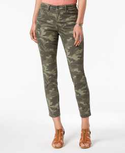 Curvy-Fit Skinny Printed Jeans, Created for Macy's