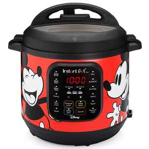6-Quart Instant Pot Duo Electric Pressure Cooker, 7-in-1 Yogurt Maker, Food Steamer, Slow Cooker, Rice Cooker & More, Disney Mickey Mouse, Red