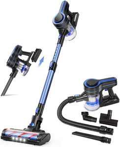 APOSEN 4-in-1 Cordless Vacuum Lightweight Stick Vacuum Cleaner 24Kpa for Carpet Hard Floors Pet Hair