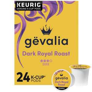 Gevalia Dark Royal Roast Coffee K-Cup Coffee Pods, 24 ct Box