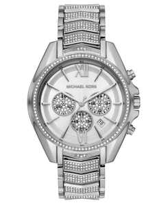 Women's Chronograph Whitney Stainless Steel Pavé Bracelet Watch 45mm