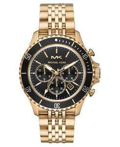 Men's Bayville Gold-Tone Stainless Steel Bracelet Watch 44mm