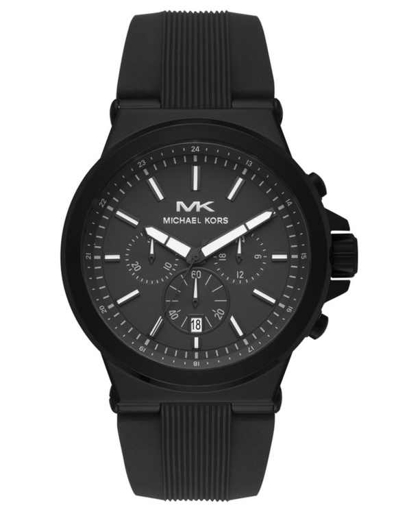 Men's Chronograph Dylan Black Silicone Strap Watch 45mm