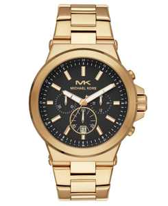 Men's Chronograph Dylan Gold-Tone Stainless Steel Bracelet Watch 45mm