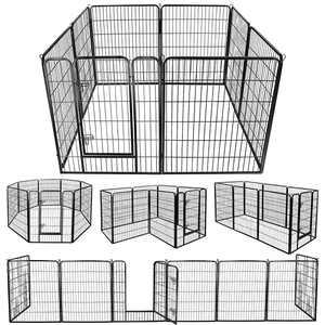 ZenStyle Foldable Metal Exercise Pen & Pet Playpen Puppy Cat Exercise Fence Barrier Playpen Kennel - 8 Panels
