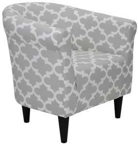 Mainstays Microfiber Bucket Accent Chair, Fynn Gray
