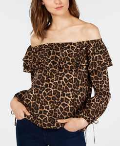 Ruffled Off-The-Shoulder Top, Regular & Petite  Sizes