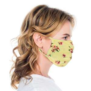 3 Pcs unisex Cloth Floral Print face mask Reusable Comfortable Washable Made In USA masks