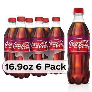 Coca-Cola Cherry Bottles, 16.9 fl oz, 6 Pack