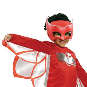 PJ Masks Deluxe Turbo Blast Owlette Dress Up Set Includes Mask, Kids Costume and Pretend Play, Size 4-6X, Red