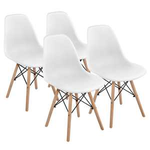 SmileMart Modern Dining Chairs, Set of 4, White