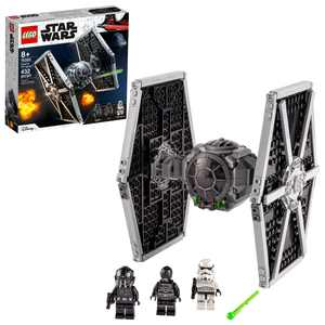 LEGO Star Wars Imperial TIE Fighter 75300 Building Toy for Creative Kids (432 Pieces)