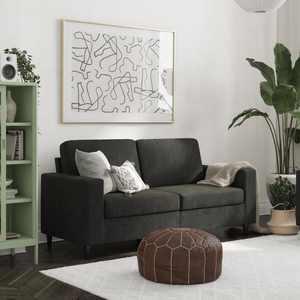 DHP Cooper Sofa, Black Velvet