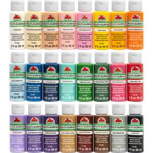 Apple Barrel 2 oz Multi-color Satin Acrylic Craft Paint (24 Pieces)