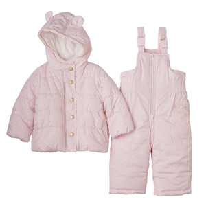 Carter's Baby Girl's Two-Piece Light Pink Overall Snowsuit