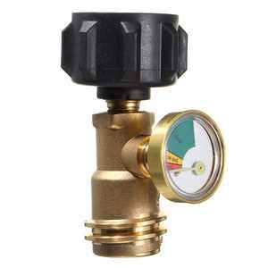 Caravan Propane Tank Gauge Home Outdoor Gas Level Grill BBQ RV Pressure Adapter Meter Press Gauge Indicator Brass Connector Adaptor