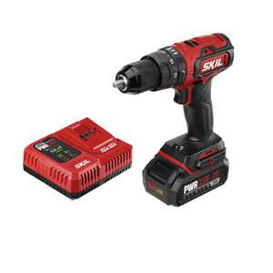 SKIL PWR CORE 20 Brushless 20-Volt 1/2 In. Hammer Drill Kit with 2.0Ah Battery and Charger