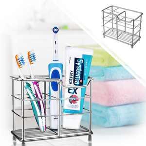 Toothbrush Holder,Bigroof Stainless Steel Metal Electric Toothbrush Holder for Bathroom Toothpaste Holder - Silver