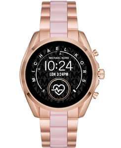 Access Gen 5 Bradshaw Rose Gold-Tone Stainless Steel & Blush Acetate Bracelet Touchscreen Smart Watch 44mm