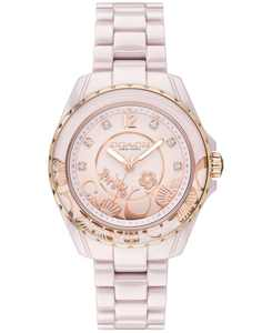 LIMITED EDITION Preston Blush Ceramic Bracelet Watch 32mm, Created for Macy's