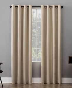 """Patina 52"""" x 84"""" Textured Blackout Curtain Panel"""