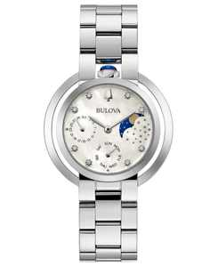 Women's Rubaiyat Diamond-Accent Stainless Steel Bracelet Watch 35mm