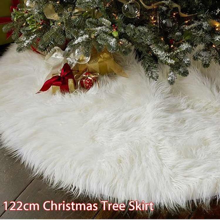 "Kadell Round Christmas Tree Skirt Base Cover Party Tree Decoration Ornament, 48"" Diameter"