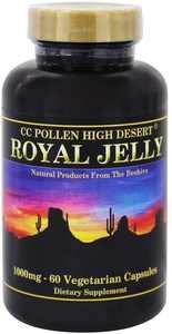 CC Pollen Company Royal Jelly, 1000mg, 60 Vegetarian Capsules