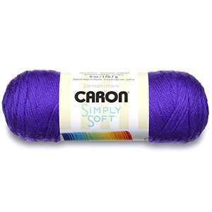 Caron Simply Soft Solids Yarn (4) Medium Gauge 100% Acrylic - 6 oz - Iris - Machine Wash & Dry