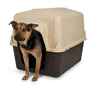 Petmate Aspen Pet Outdoor Dog House, Large, For Pets 50 to 90 Pounds