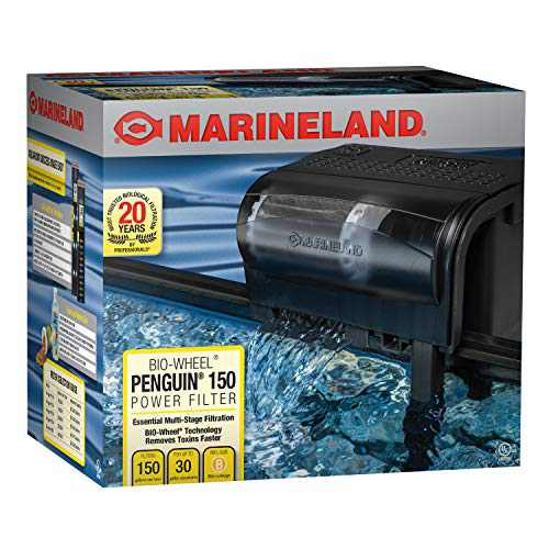 Marineland Penguin Bio-Wheel Power Filter 150 GPH, Multi-Stage Aquarium Filtration