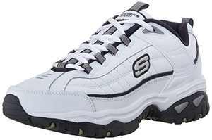 Skechers mens Energy Afterburn road running shoes, White/Navy,12 medium