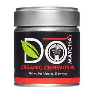 DoMatcha - Organic Ceremonial Green Tea Matcha Powder, Natural Source of Antioxidants, Caffeine, and L-Theanine, Promotes Focus and Relaxation, Kosher, 25 Servings (1 oz)
