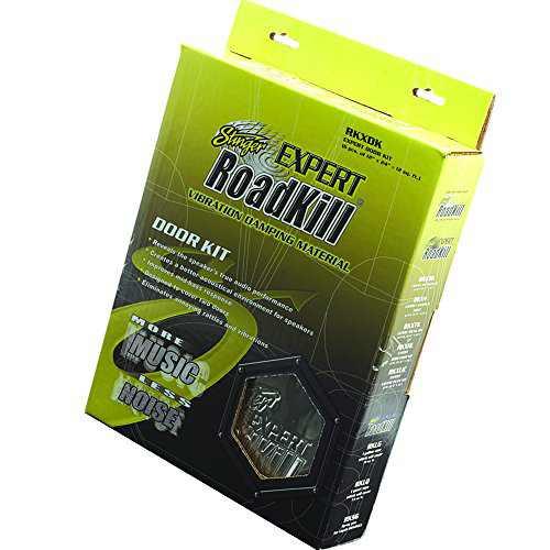 Stinger RKXDK Roadkill Expert Series Sound Damping Material Door Kit 12-Foot , Black
