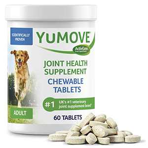 Dog Joint Supplement, Hip and Joint Supplement for Dogs with Glucosamine, Hyaluronic Acid, and Green Lipped Mussel and Omegas, Relief for Dog Hip and Joint Aches, by YuMOVE - 60 Chewable Tablets