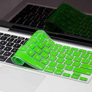 """Kuzy - GREEN Keyboard Silicone Cover Skin for MacBook Pro 13"""" 15"""" 17"""" Aluminum Unibody (with or w/out Retina Display) iMac and MacBook Air 13"""" - Green"""