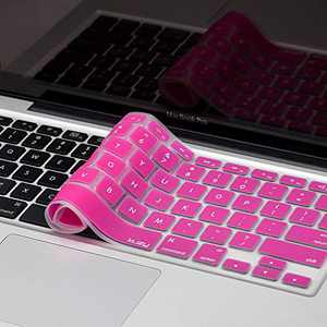 Kuzy Older Version Keyboard Cover Compatible with MacBook Pro 13 15 17 inch Release 2010-2015 and MacBook Air 13.3 inch Release 2010-2017 Silicone Skin Protector, Magenta