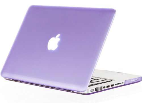Kuzy Compatible with MacBook Pro 13.3 inch Case A1278 Older Verision, Rubberized Matte Cover Hard Shell Case for MacBook Pro 13 inch with CD-ROM Release 2012-2008, Light Purple