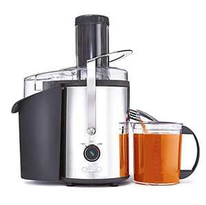 """BELLA High Power Juice Extractor, 2 Speed Motor, Juicer, Large 3"""" Feed for Larger Fruits and Veggies, Dishwasher Safe Filter & Pulp Container for Easy Cleaning, Stainless Steel"""